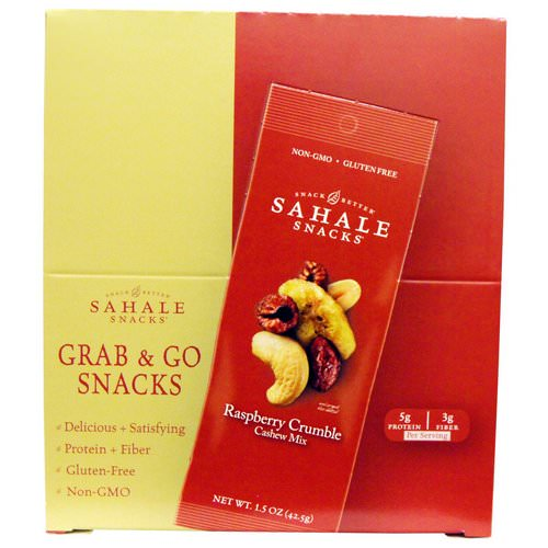Sahale Snacks, Raspberry Crumble Cashew Mix, 9 Packs, 1.5 oz (42.5 g) Each Review