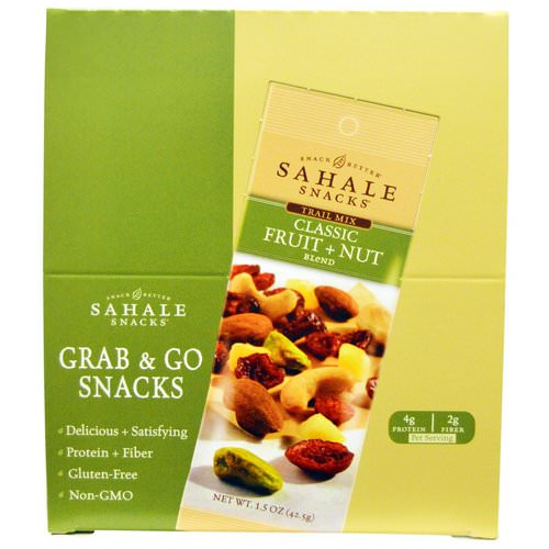 Sahale Snacks, Trail Mix, Classic Fruit + Nut Blend, 9 Packs, 1.5 oz (42.5 g) Each Review