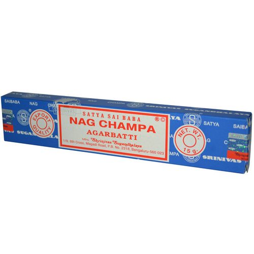 Sai Baba, Satya, Nag Champa Agarbatti Incense, 10 Sticks, (15 g) Review