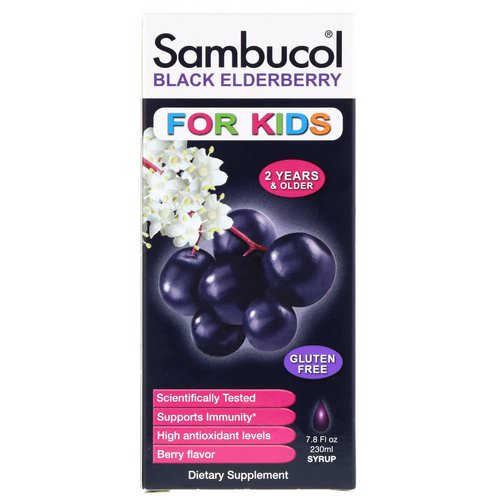 Sambucol, Black Elderberry Syrup, For Kids, Berry Flavor, 7.8 fl oz (230 ml) Review