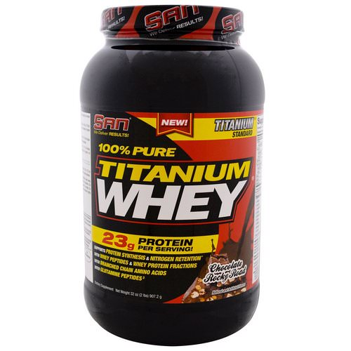SAN Nutrition, 100% Pure Titanium Whey, Chocolate Rocky Road, 2 lbs (907.2 g) Review