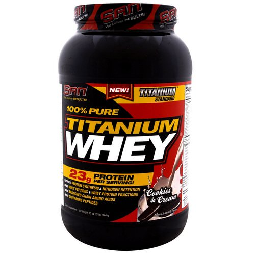 SAN Nutrition, 100% Pure Titanium Whey, Cookies & Cream, 2.06 lbs (924 g) Review