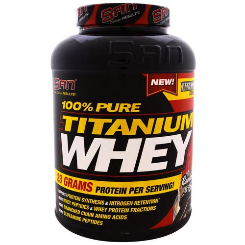 SAN Nutrition, 100% Pure Titanium Whey, Cookies & Cream, 5.06 lbs (2310 g) Review