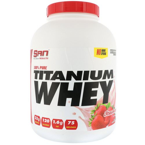 SAN Nutrition, 100% Pure Titanium Whey, Strawberry, 5 lb (2273 g) Review