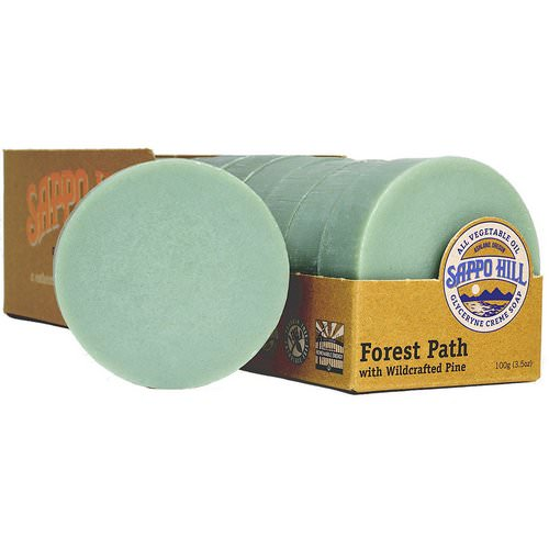 Sappo Hill, Glycerine Creme Soap, Forest Path Wildcrafted Pine, 12 Bars, 3.5 oz (100 g) Review