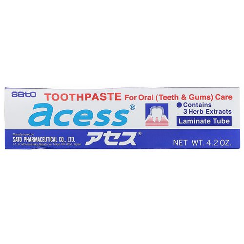 Sato, Acess, Toothpaste for Oral Care, 4.2 oz (125 g) Review