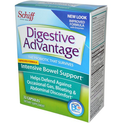 Schiff, Digestive Advantage, Intensive Bowel Support, 32 Capsules Review