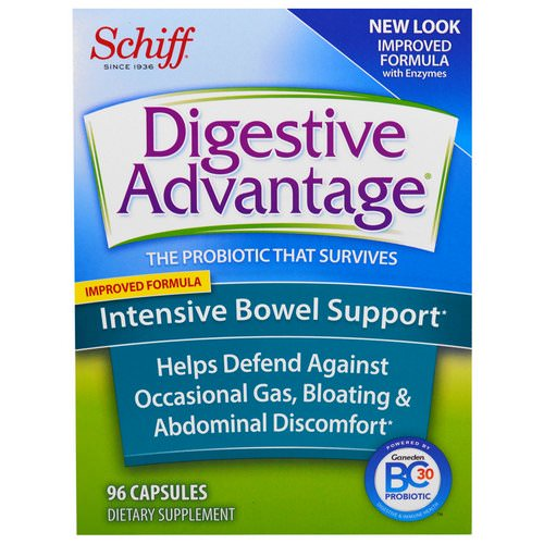 Schiff, Digestive Advantage, Intensive Bowel Support, 96 Capsules Review