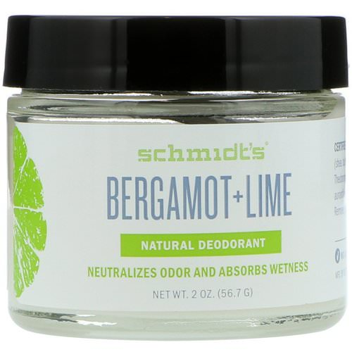 Schmidt's Naturals, Natural Deodorant, Bregamot + Lime, 2 oz (56.7 g) Review