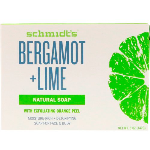 Schmidt's Naturals, Natural Soap, Bergamot + Lime, 5 oz (142 g) Review