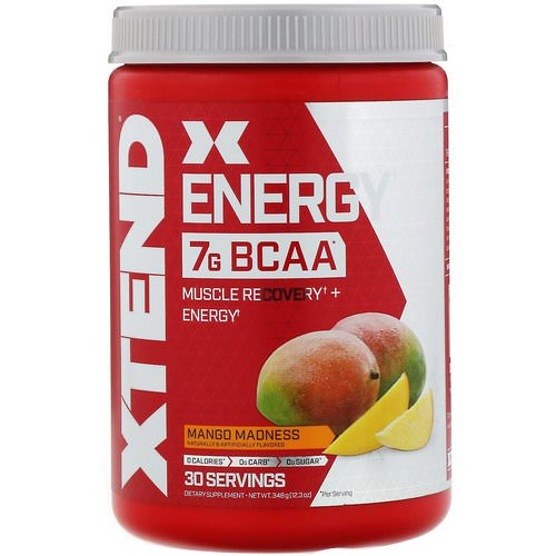 Scivation, Xtend Energy BCAA, Mango Madness, 12.3 oz (348 g) Review