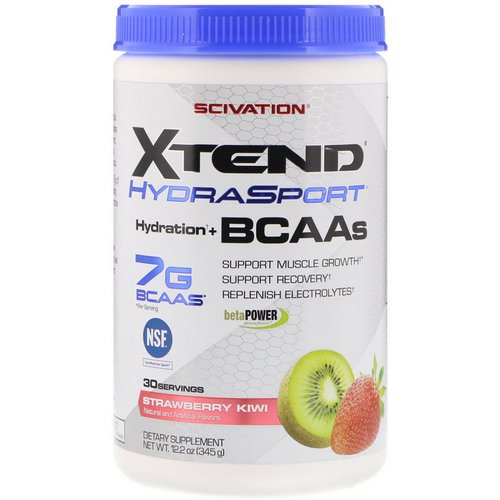 Scivation, Xtend HydraSport, Hydration + BCAAs, Strawberry Kiwi, 12.2 oz (345 g) Review