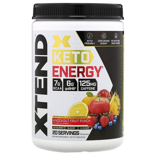 Scivation, Xtend, Keto Energy, Knockout Fruit Punch, 12 oz (340 g) Review