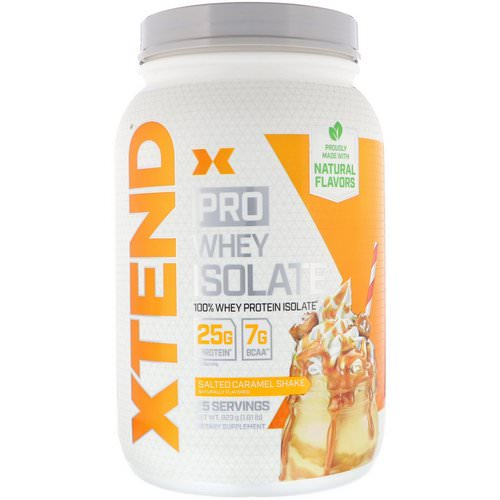 Scivation, Xtend Pro, Whey Isolate, Salted Caramel Shake, 1.81 lb (823 g) Review