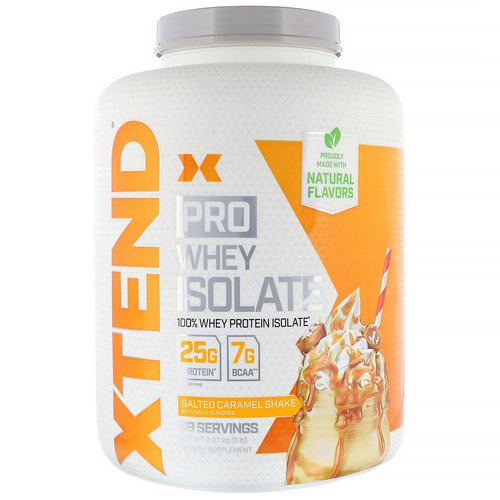 Scivation, Xtend Pro, Whey Isolate, Salted Caramel Shake, 5 lb (2.27 kg) Review