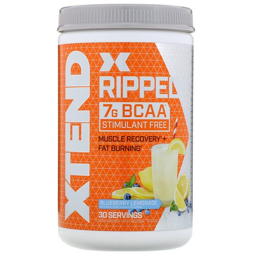 Scivation, Xtend Ripped BCAAs, Blueberry Lemonade, 1.09 lbs (495 g) Review