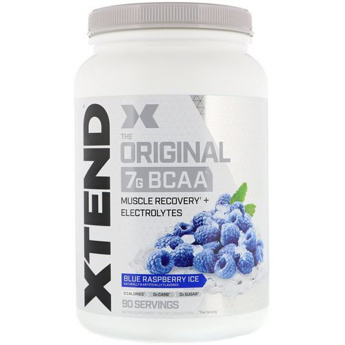 Scivation, Xtend, The Original 7G BCAA, Blue Raspberry Ice, 2.78 lb (1.26 kg) Review