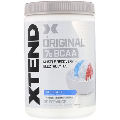 Scivation, Xtend, The Original 7G BCAA, Freedom Ice, 14.8 oz (420 g) Review