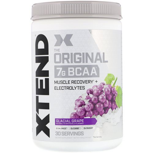 Scivation, Xtend, The Original 7G BCAA, Glacial Grape, 14.3 oz (405 g) Review