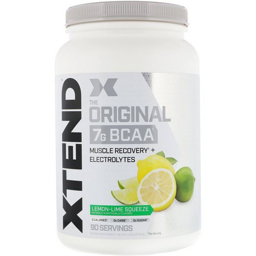 Scivation, Xtend, The Original 7G BCAA, Lemon-Lime Squeeze, 2.78 lb (1.26 kg) Review