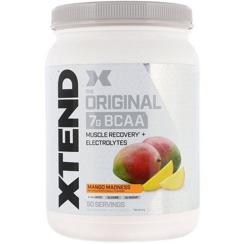 Scivation, Xtend, The Original 7g BCAA, Mango Madness, 1.5 lb (700 g) Review