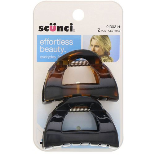 Scunci, Effortless Beauty, Clutch Jaw Clips, 2 Pieces Review
