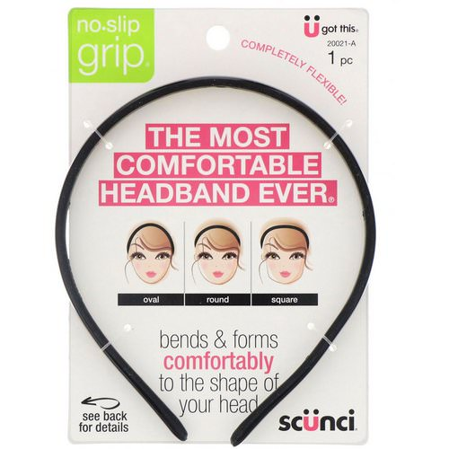 Scunci, No Slip Grip, Bendable Headband, 1 Piece Review