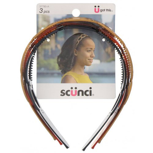 Scunci, Oval Headbands, Assorted Colors, 3 Pieces Review