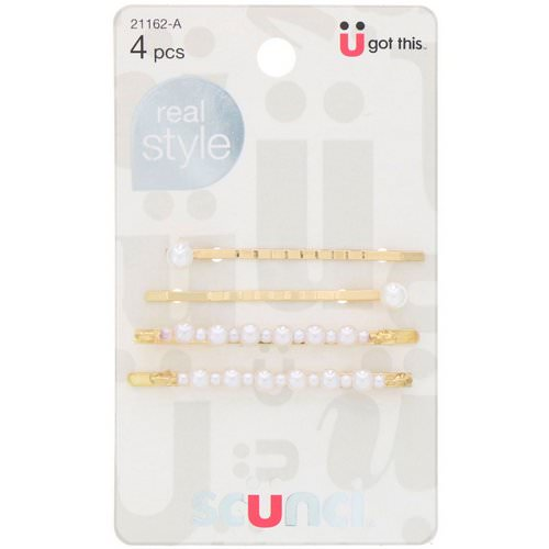 Scunci, Real Style, Pearl Bobby Pins, 4 Pieces Review