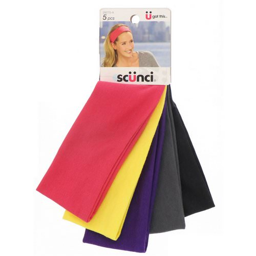 Scunci, Summer Headwraps, Assorted Colors, 5 Pieces Review