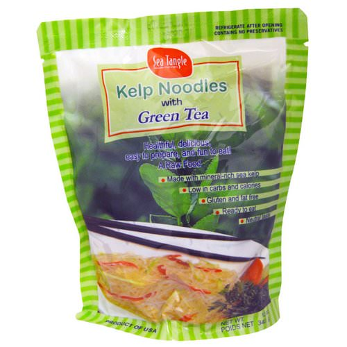 Sea Tangle Noodle Company, Kelp Noodles, with Green Tea, 12 oz (340 g) Review