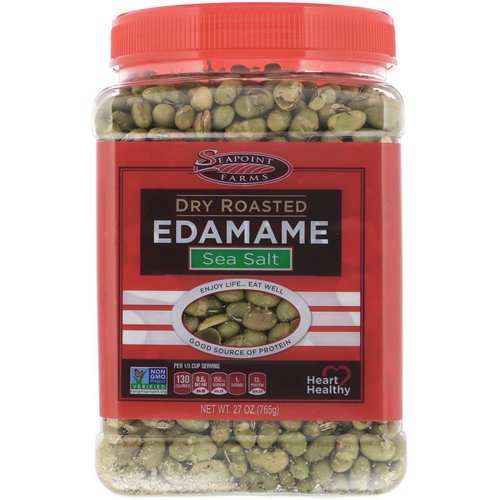 Seapoint Farms, Dry Roasted Edamame, Sea Salt, 27 oz (765 g) Review
