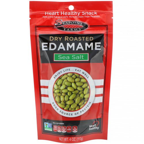 Seapoint Farms, Dry Roasted Edamame, Sea Salt, 4 oz (113 g) Review