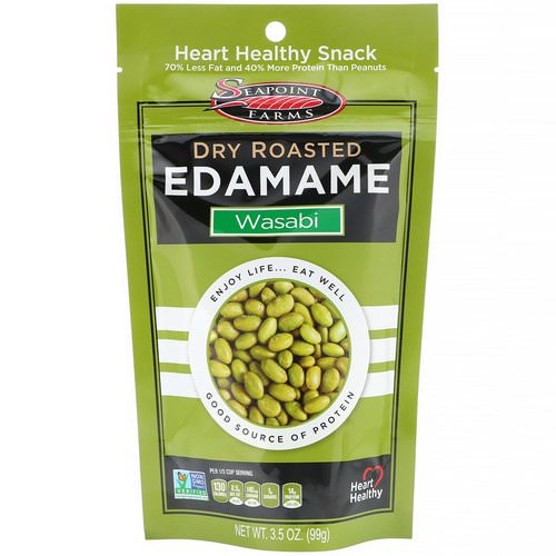 Seapoint Farms, Dry Roasted Edamame, Wasabi, 3.5 oz (99 g) Review
