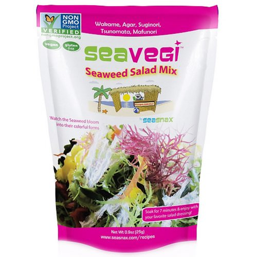 SeaSnax, SeaVegi, Seaweed Salad Mix, 0.9 oz (25 g) Review