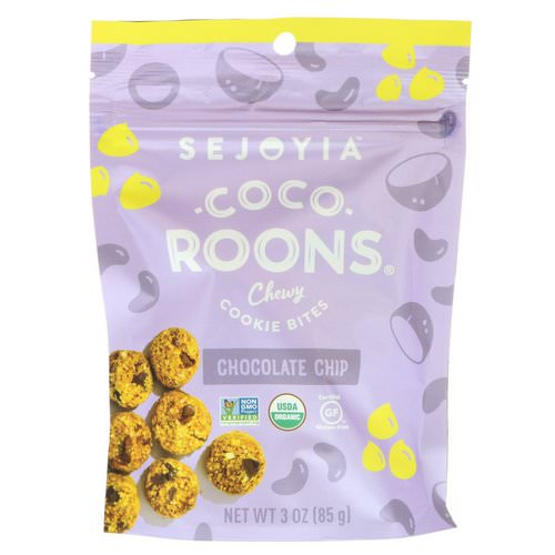Sejoyia, Coco-Roons, Chewy Cookie Bites, Chocolate Chip, 3 oz (85 g) Review