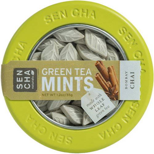 Sencha Naturals, Green Tea Mints, Bombay Chai, 1.2 oz (35 g) Review