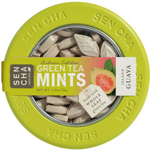 Sencha Naturals, Green Tea Mints, Island Guava, 1.2 oz (35 g) Review