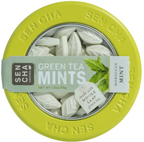 Sencha Naturals, Green Tea Mints, Moroccan Mint, 1.2 oz (35 g) Review