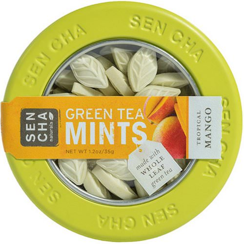 Sencha Naturals, Green Tea Mints, Tropical Mango, 1.2 oz (35 g) Review