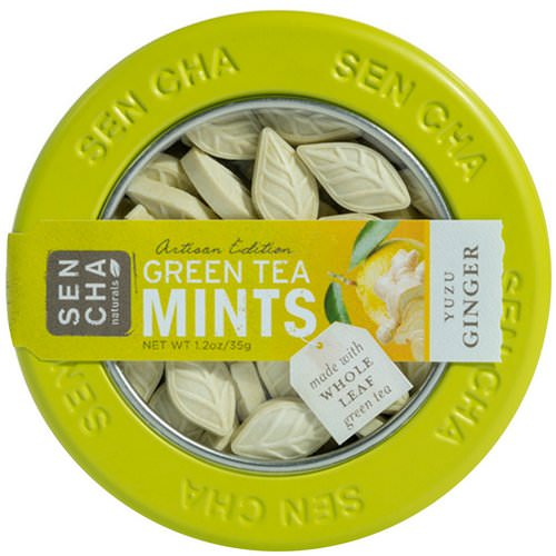 Sencha Naturals, Green Tea Mints, Yuzu Ginger, 1.2 oz (35 g) Review
