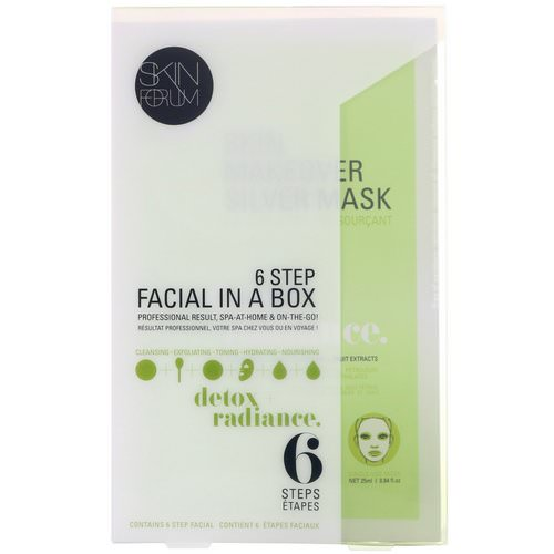 SFGlow, 6 Step Facial In A Box, Detox + Radiance, 1 Set Review