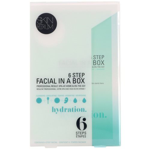 SFGlow, 6 Step Facial In A Box, Hydration, 1 Set Review