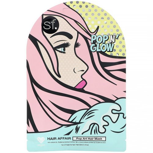 SFGlow, POP n' Glow, Hair Affair, Pop Art Hair Mask, 1 Sheet, 1.01 oz (30 ml) Review