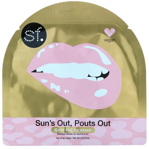 SFGlow, Sun's Out, Pouts Out, Gold Foil Lip Mask, 1 Mask, 0.27 oz (8 ml) Review
