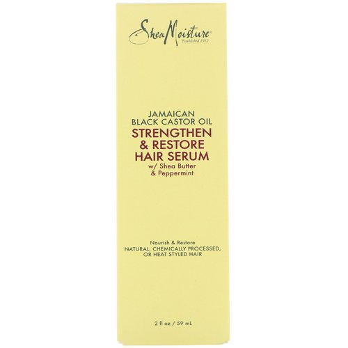 SheaMoisture, Jamaican Black Castor Oil, Strengthen & Restore Hair Serum, 2 fl oz (59 ml) Review
