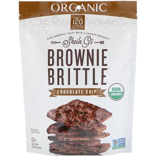 Sheila G's, Organic, Brownie Brittle, Chocolate Chip, 5 oz (142 g) Review