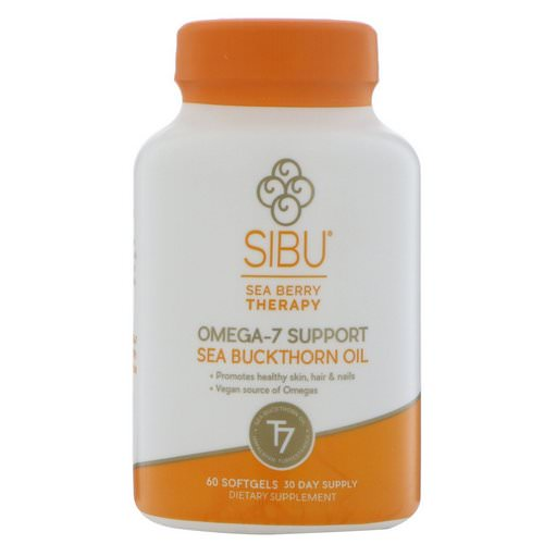 Sibu Beauty, Sea Berry Therapy, Omega-7 Support, Sea Buckthorn Oil, 60 Softgels Review