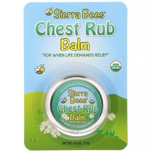 Sierra Bees, Chest Rub Balm, Eucalyptus & Peppermint, 0.6 oz (17 g) Review