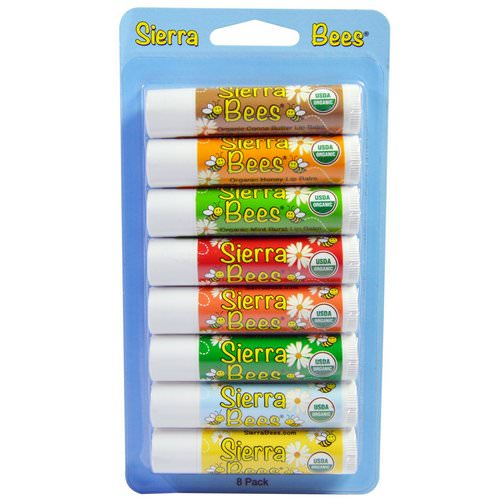 Sierra Bees, Organic Lip Balms Combo Pack, 8 Pack, .15 oz (4.25 g) Each Review